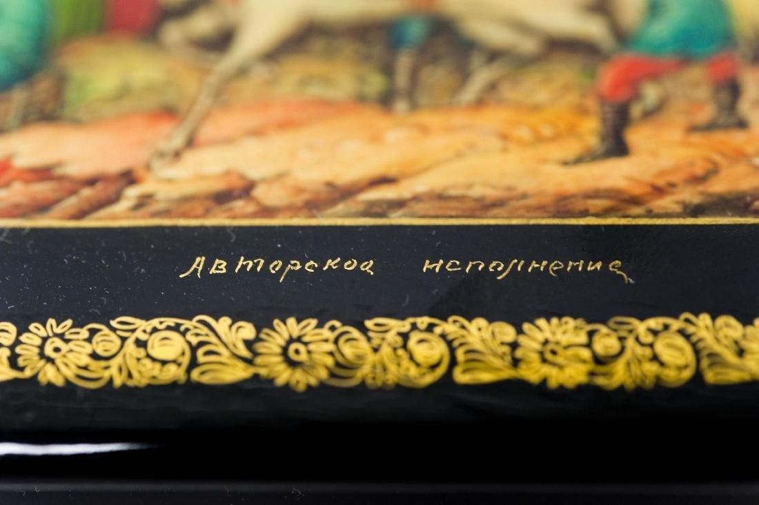 Lubomudrova Mstera Russian Lacquer Box. - 4