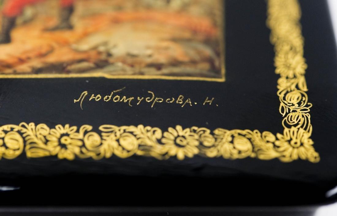 Lubomudrova Mstera Russian Lacquer Box. - 5