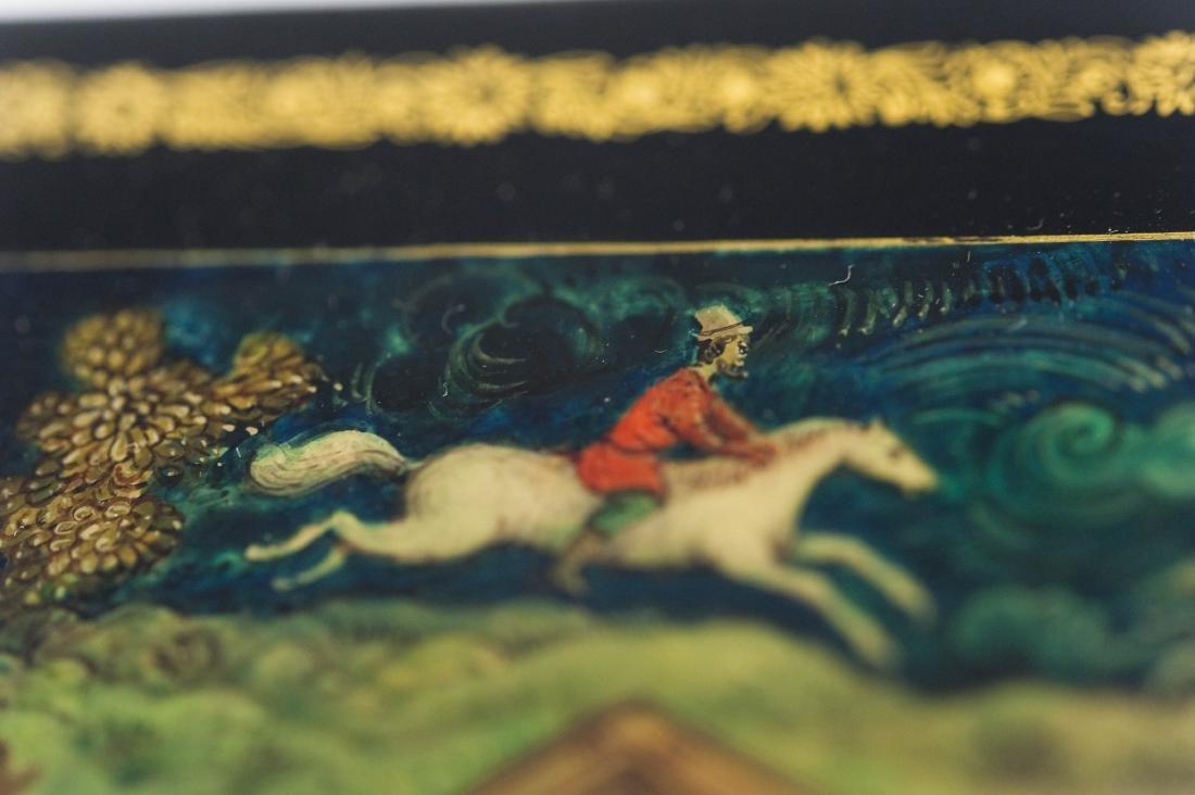 Lubomudrova Mstera Russian Lacquer Box. - 6
