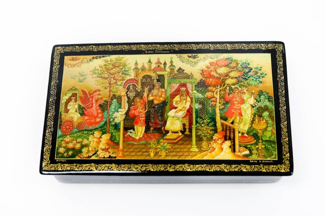 Shirokov Mstera Russian Lacquer Box, Eliana the Wise.