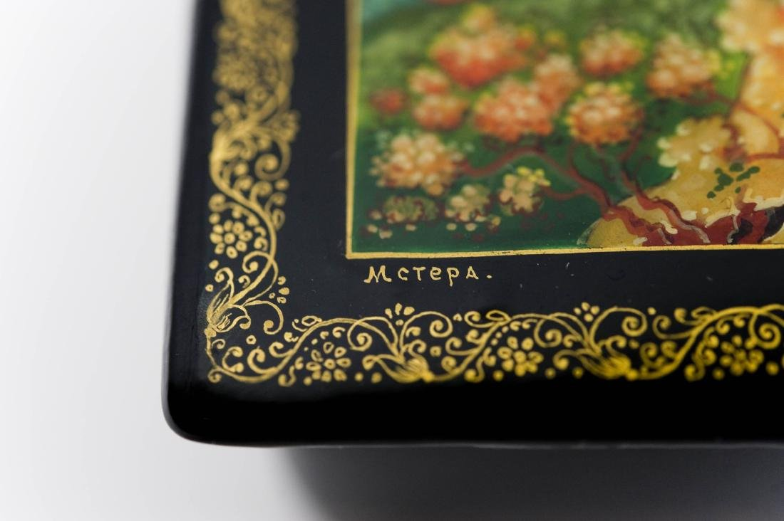 Shirokov Mstera Russian Lacquer Box, Eliana the Wise. - 3