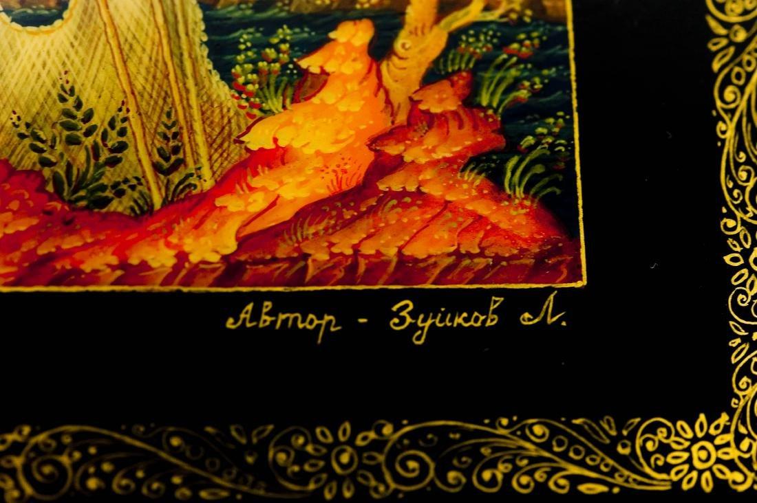 Zuykov Mstera Russian Lacquer Box. - 4