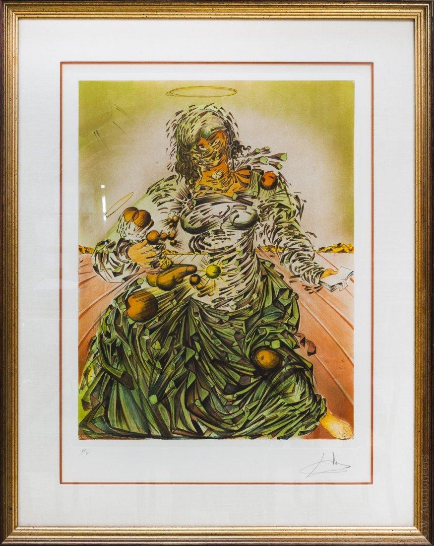 Salvador Dali Lithograph, Triumphant Madonna.