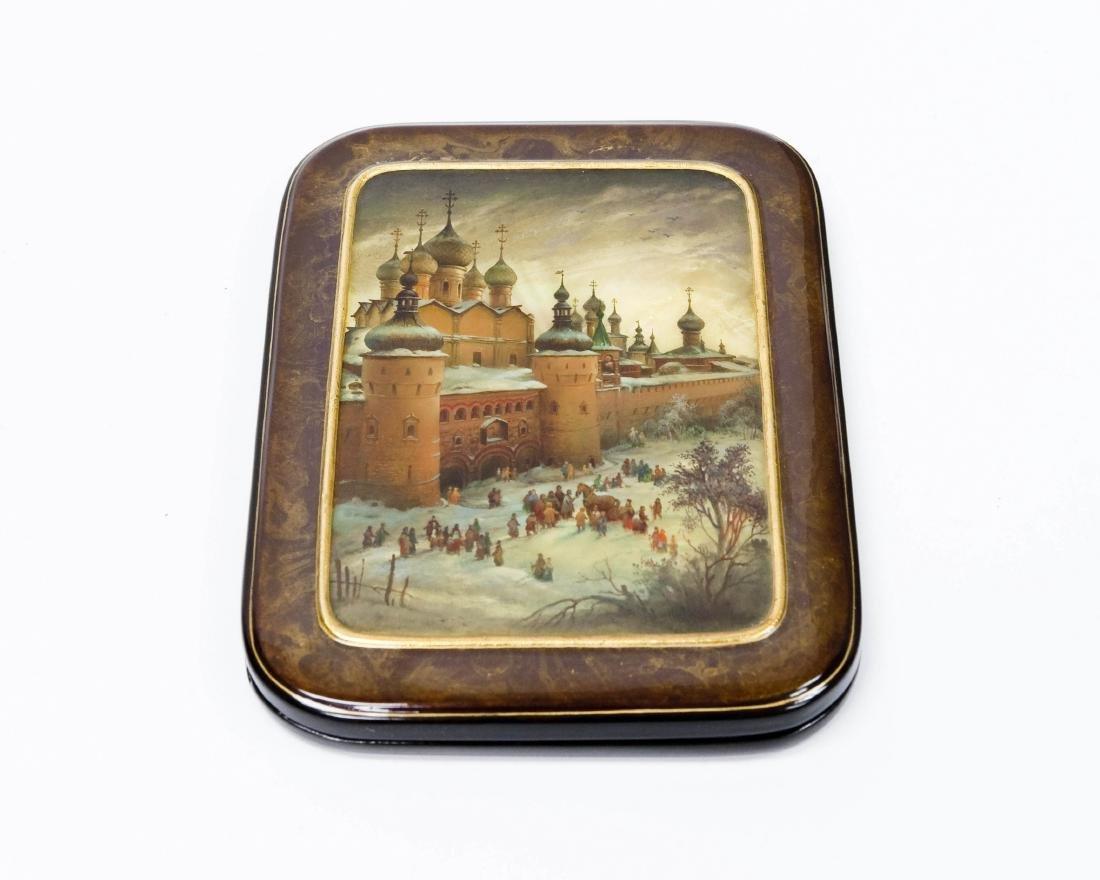 Anatoly Kuznetsov Fedoskino Lacquer Box.