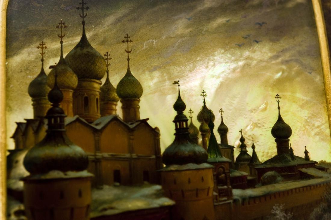 Anatoly Kuznetsov Fedoskino Lacquer Box. - 4