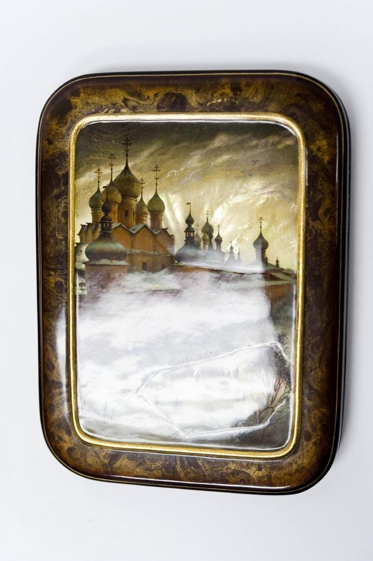 Anatoly Kuznetsov Fedoskino Lacquer Box. - 5