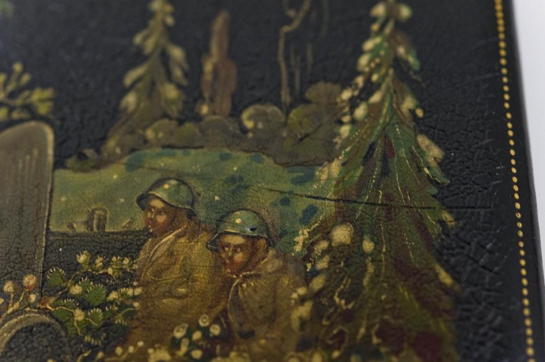World War II Palekh Russian Lacquer Box. - 6