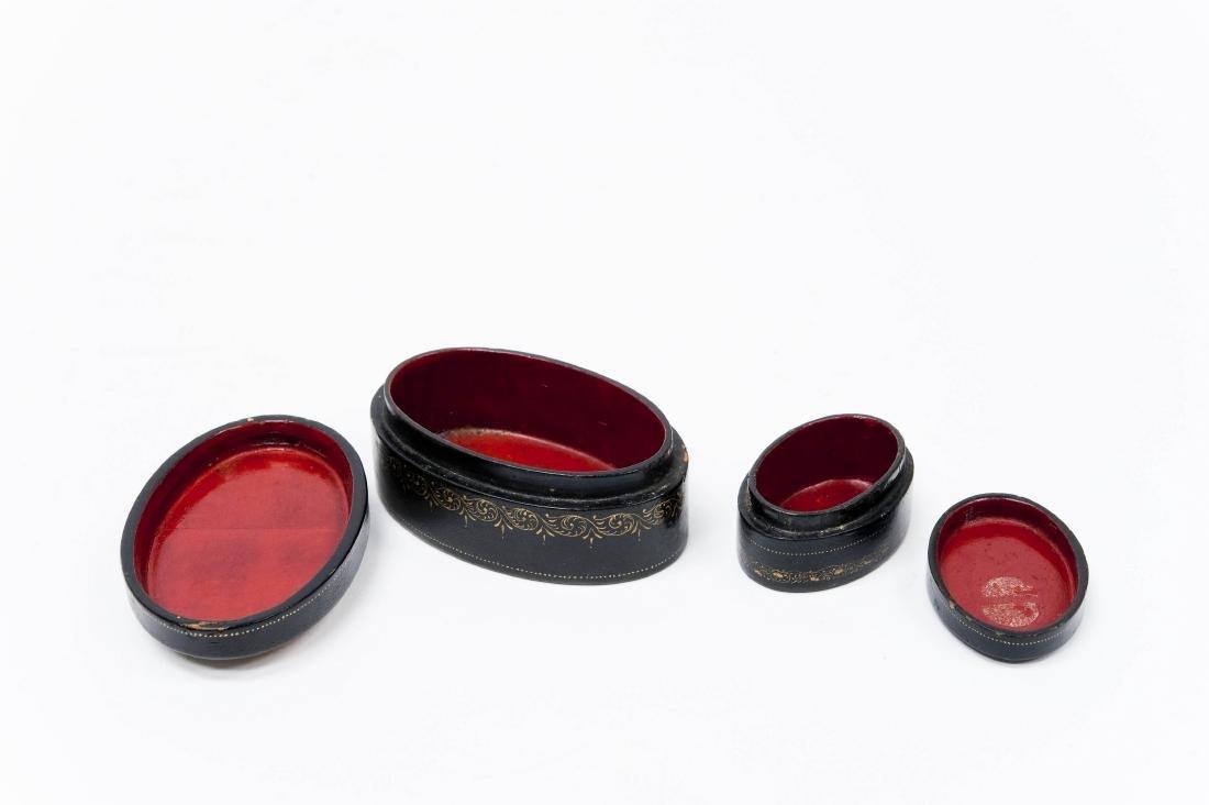 (2) Palekh Lacquer Boxes, 1926 & 1933. - 10