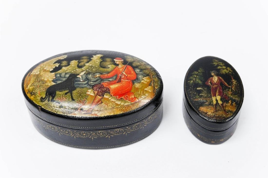 (2) Palekh Lacquer Boxes, 1926 & 1933.