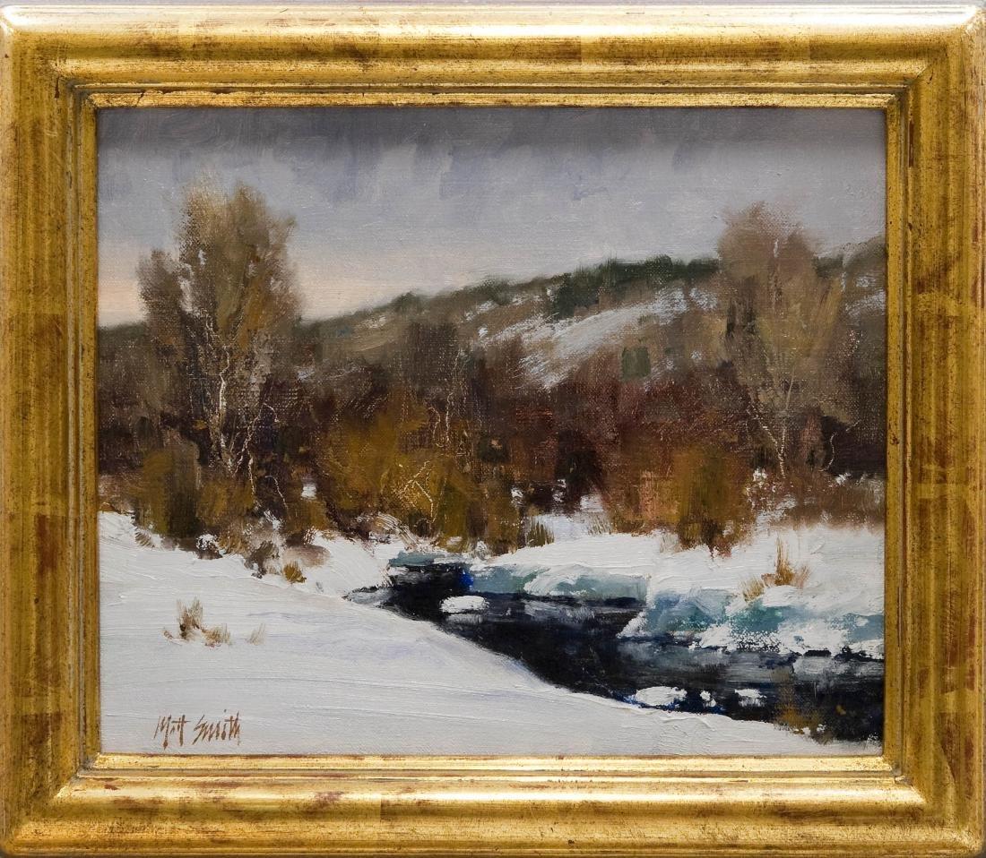 Matt Smith, Oil on Canvas, Winter Grey.