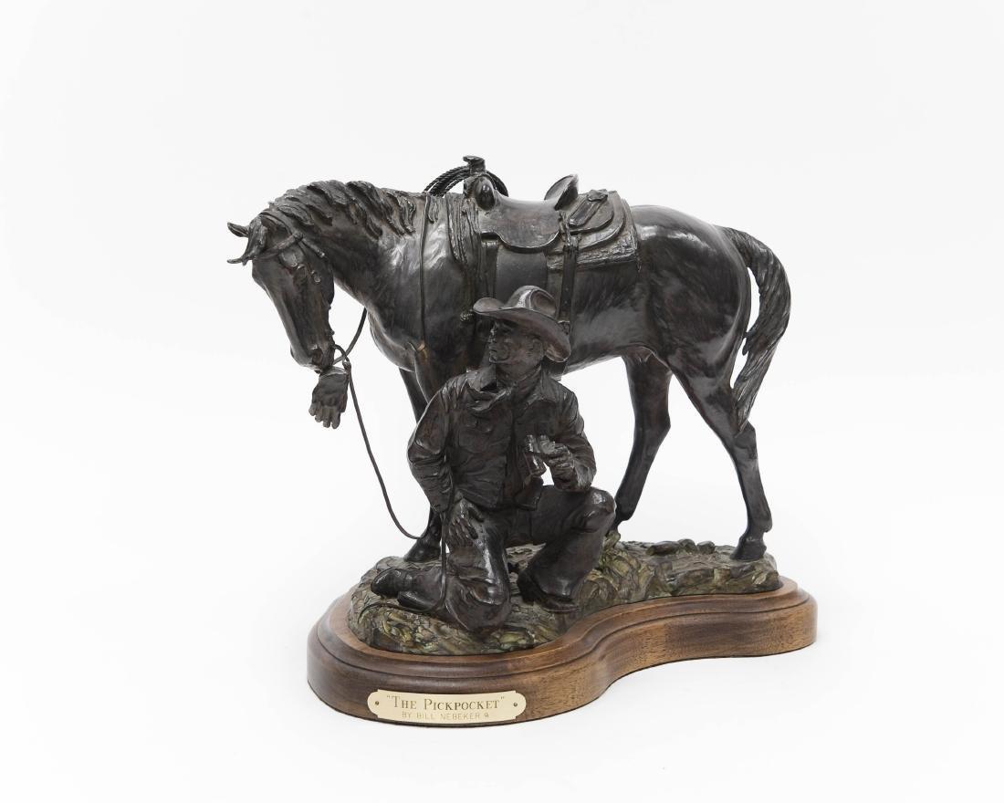 "Bill Nebeker Bronze, ""The Pickpocket""."