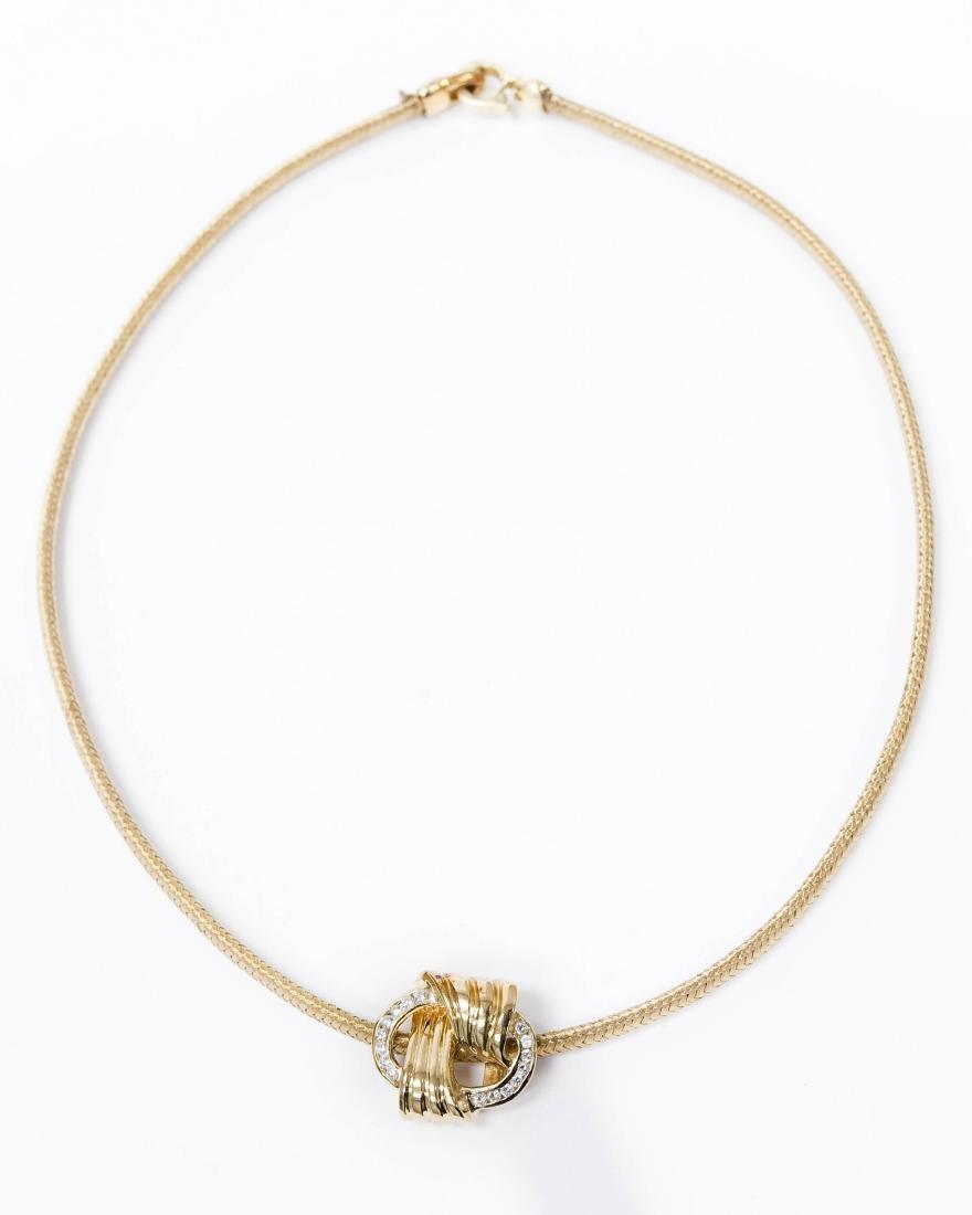 Schoeffel Gold Necklace with Kurt Gutmann Pendant.