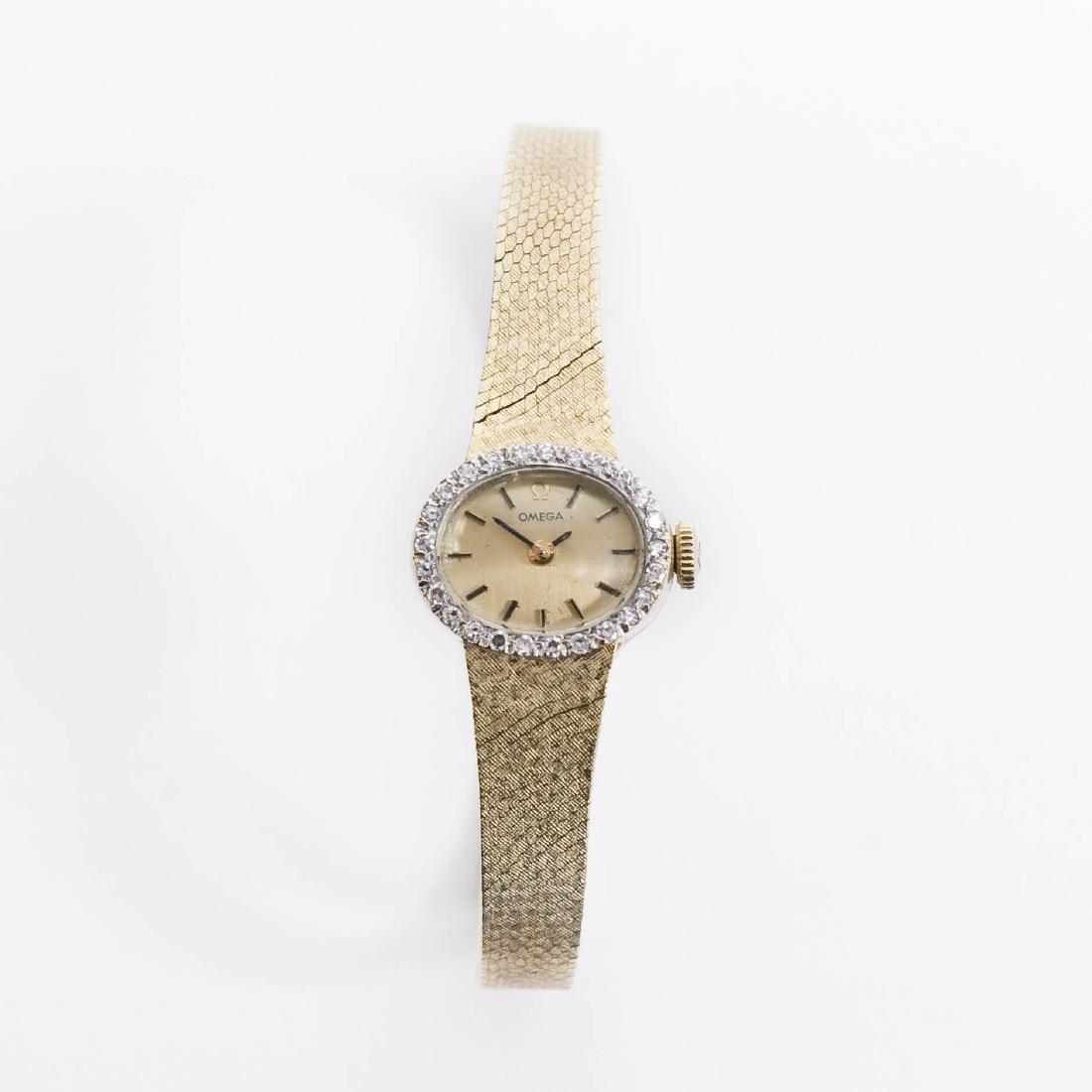 Lady's 14K Omega Wristwatch.
