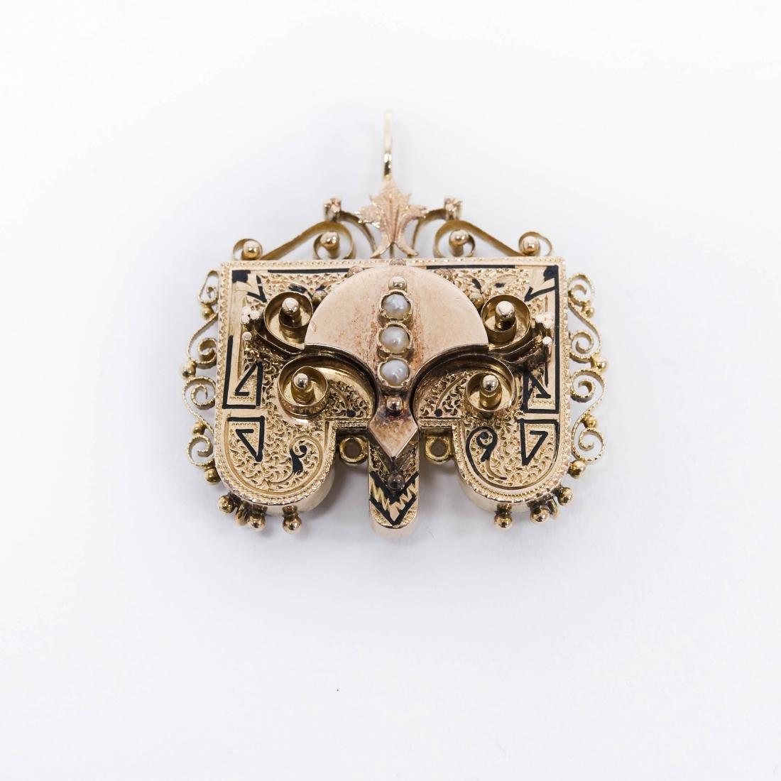 Victorian 14K Gold Pendant.