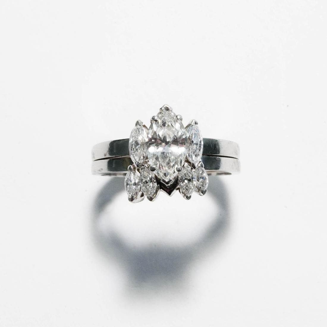 Ladies' Platinum & Diamond Wedding Ring Set.