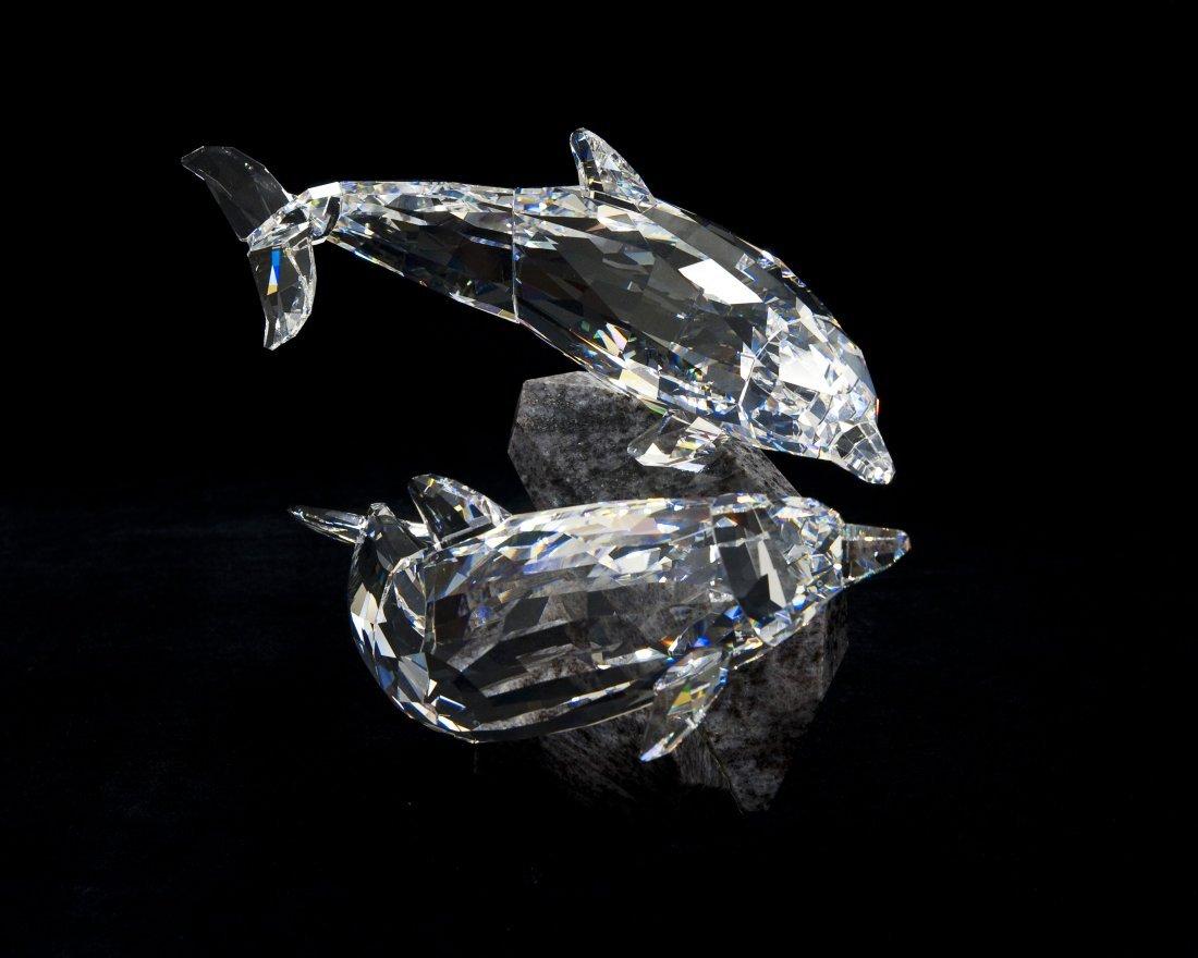 Swarovski Crystal Dolphins Soulmates Figure.