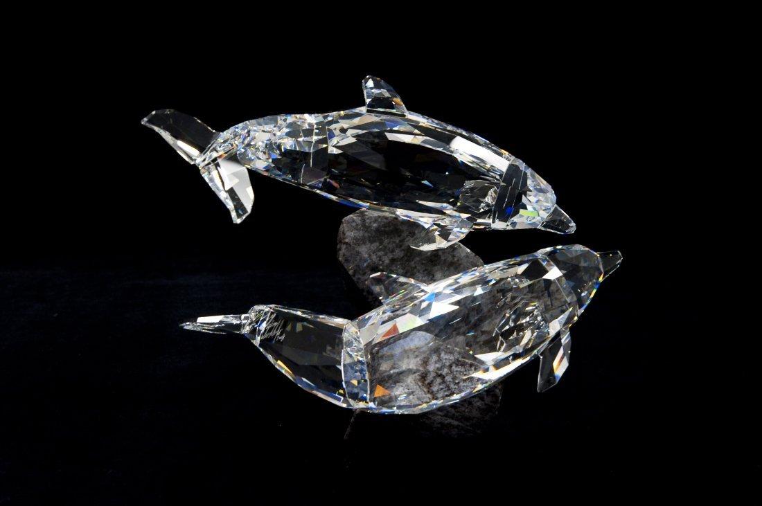 Swarovski Crystal Dolphins Soulmates Figure. - 2