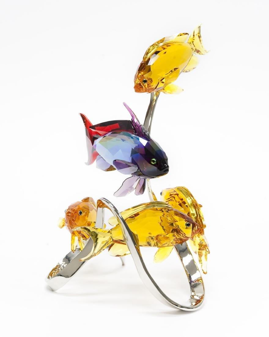 Swarovski Crystal Sea Goldies Topaz Figure.