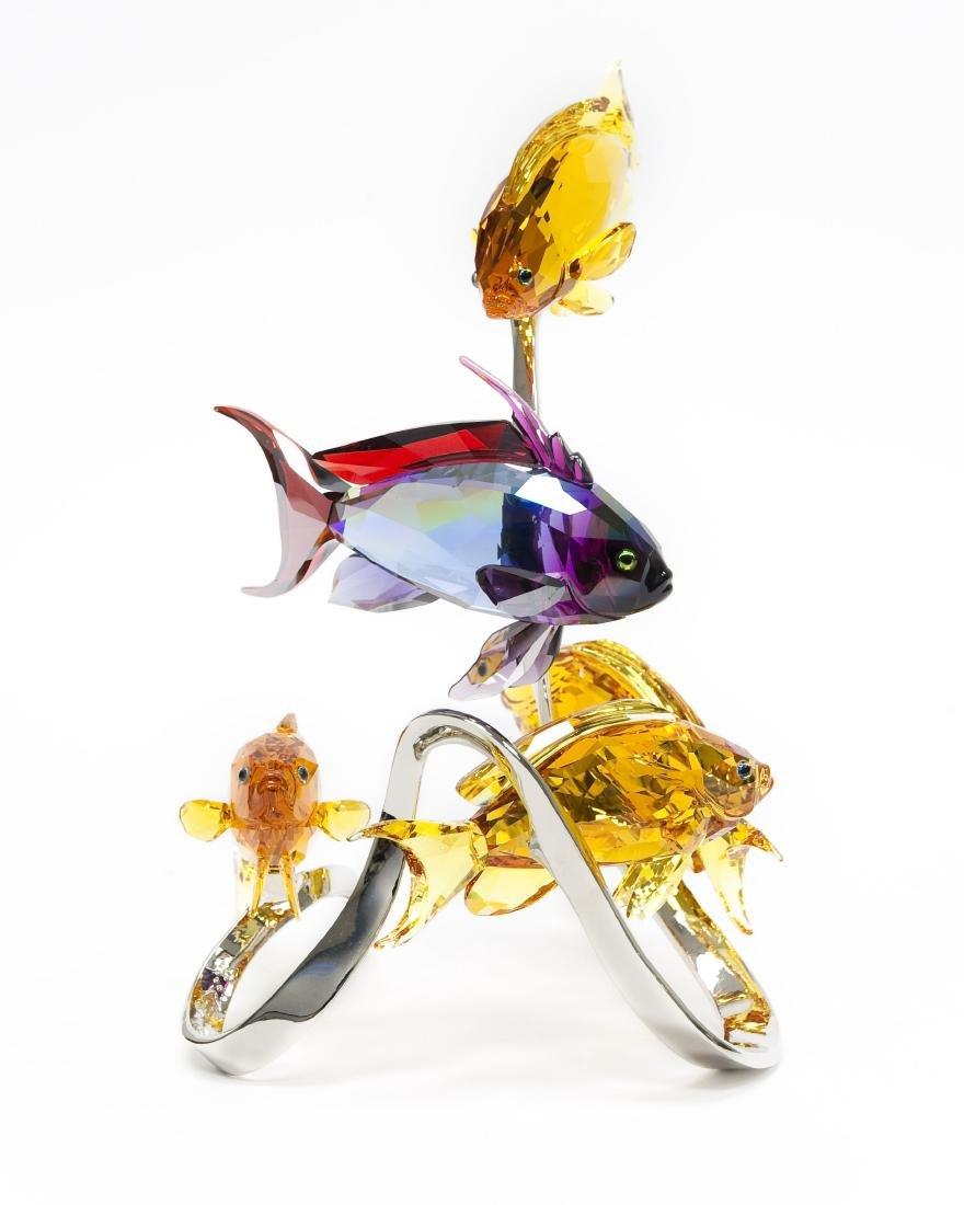 Swarovski Crystal Sea Goldies Topaz Figure. - 2