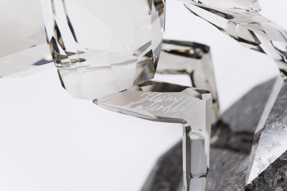Swarovski Crystal Stallion Figure. - 4