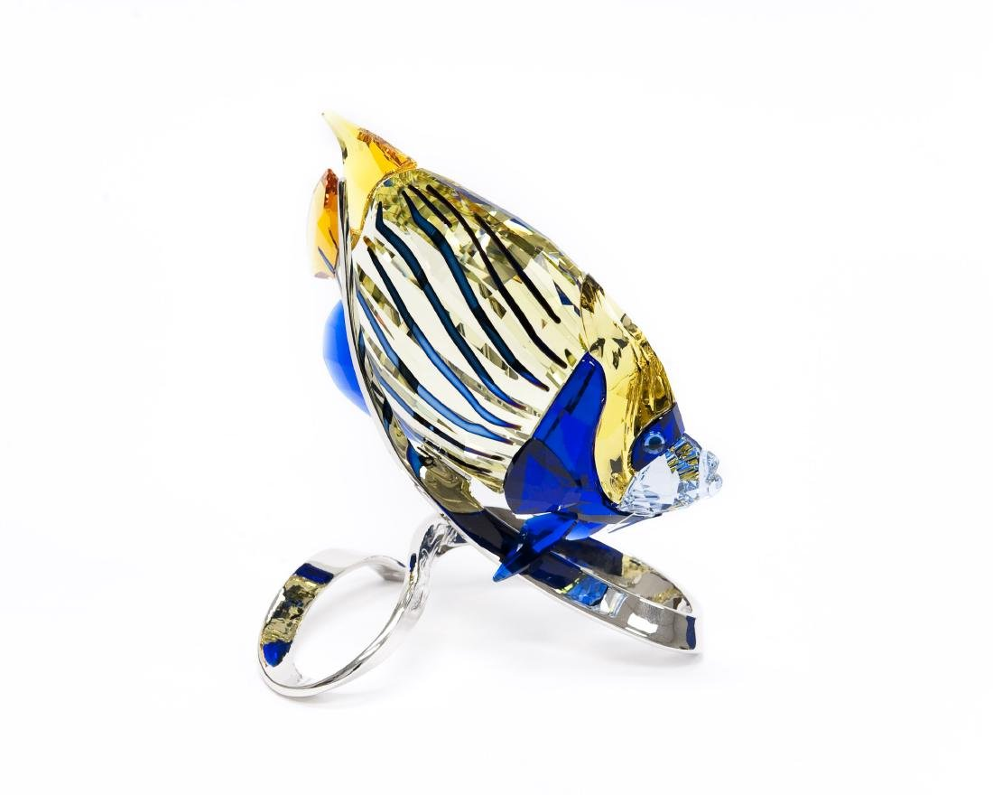 Swarovski Crystal Emperor Angelfish Figure.