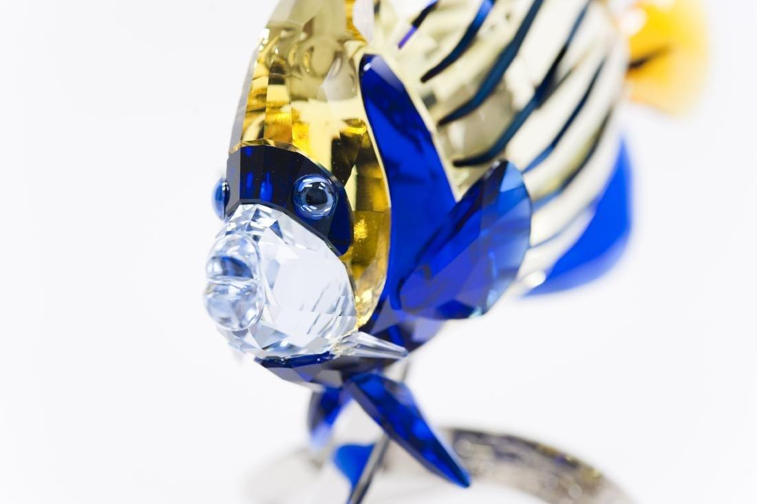 Swarovski Crystal Emperor Angelfish Figure. - 5