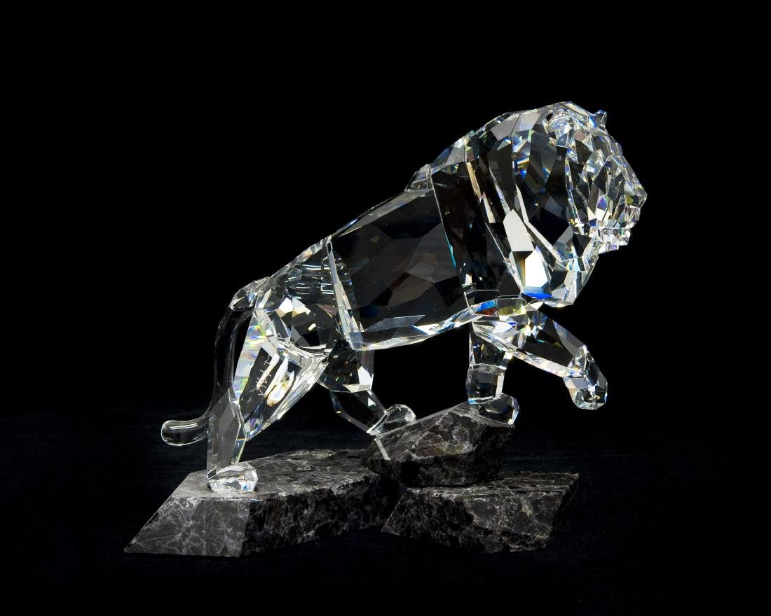 Swarovski Crystal Lion Spirit of Nobility Figure.