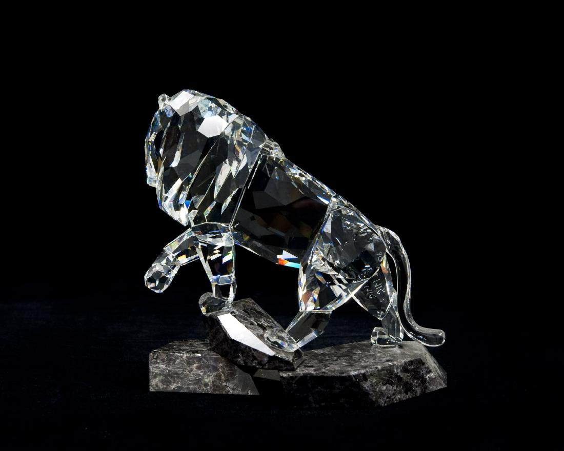 Swarovski Crystal Lion Spirit of Nobility Figure. - 2