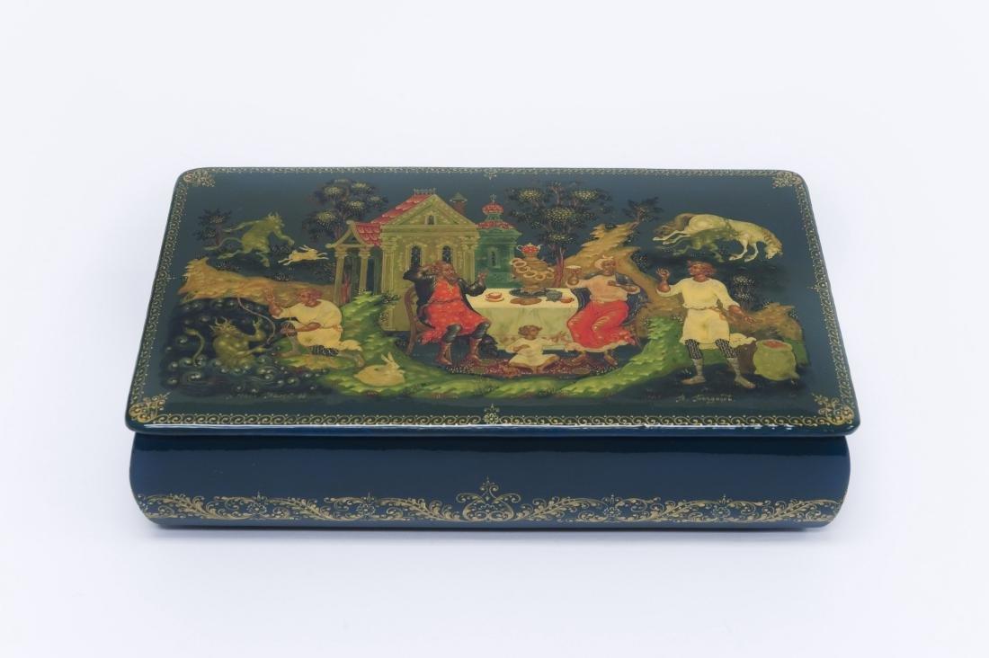 Bogdanov Palekh Russian Lacquer Box.