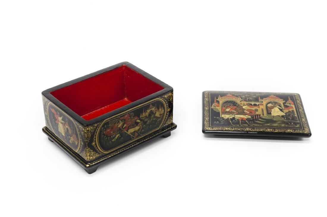 Sitnikov Palekh Russian Lacquer Box. - 2