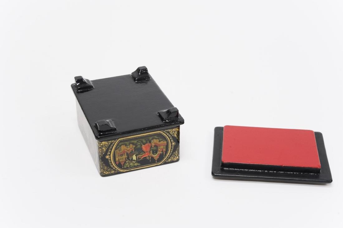 Sitnikov Palekh Russian Lacquer Box. - 3