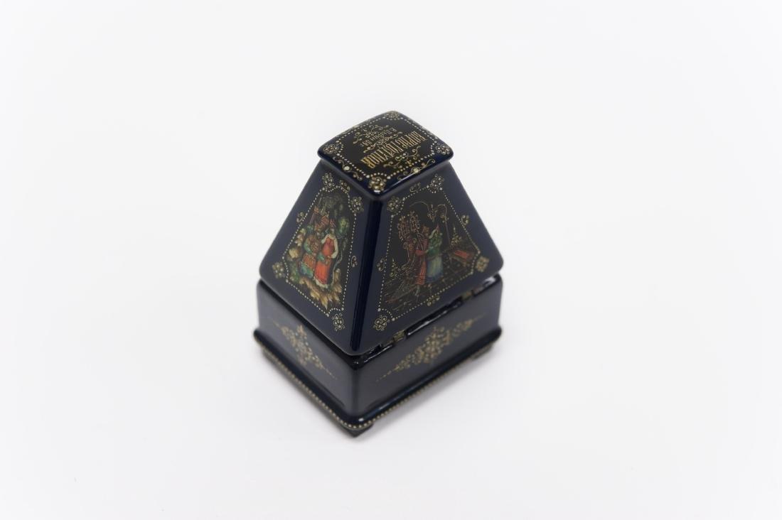 Tsibin Palekh Russian Lacquer Box, Boris Godinov. - 2