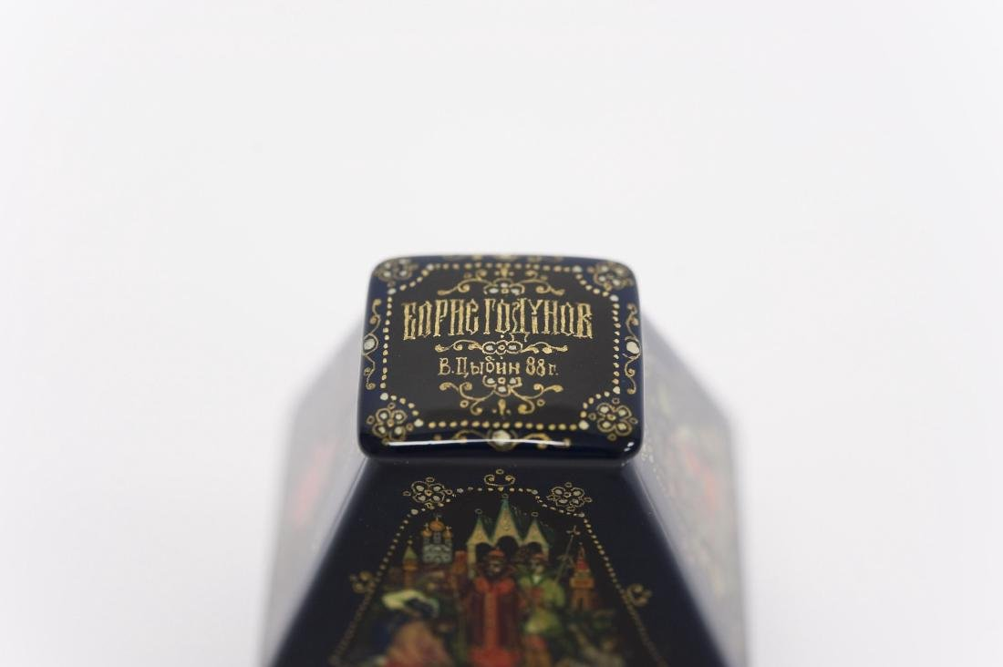 Tsibin Palekh Russian Lacquer Box, Boris Godinov. - 3