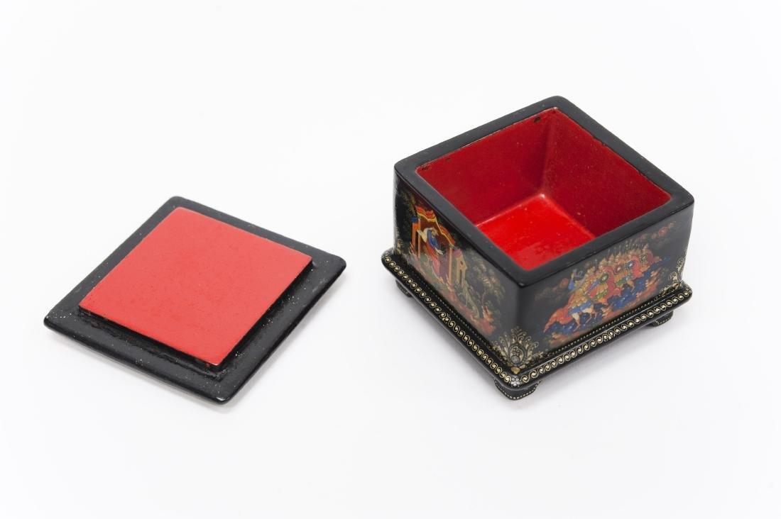 Krisenkov Palekh Russian Lacquer Box. - 2