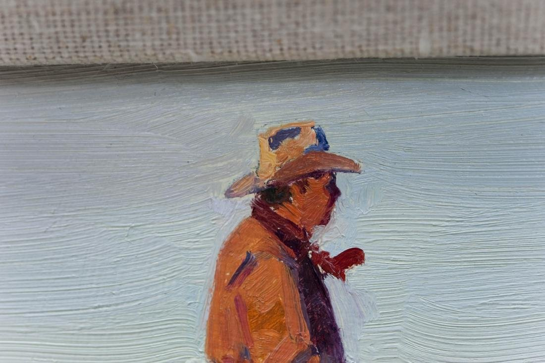 """Jim Norton, Oil on Board, """"The Day is Done"""". - 3"""