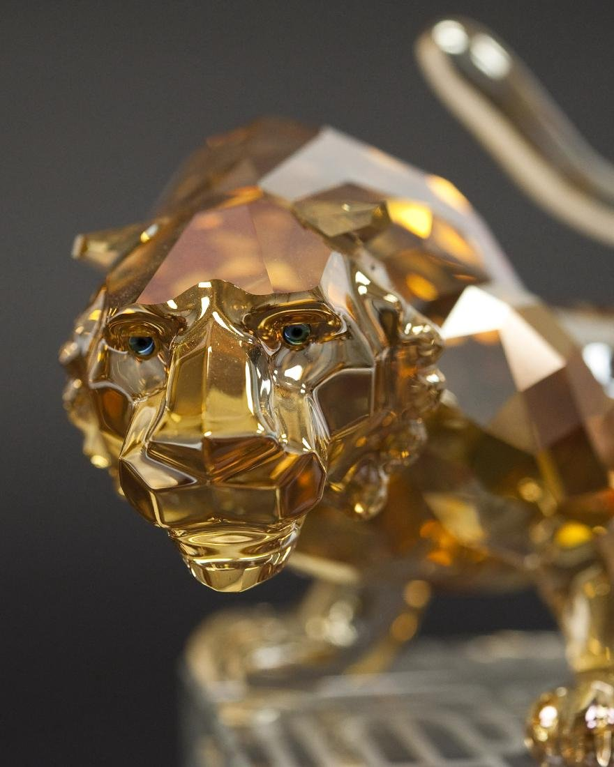 Swarovski Crystal Tiger Figure. - 3