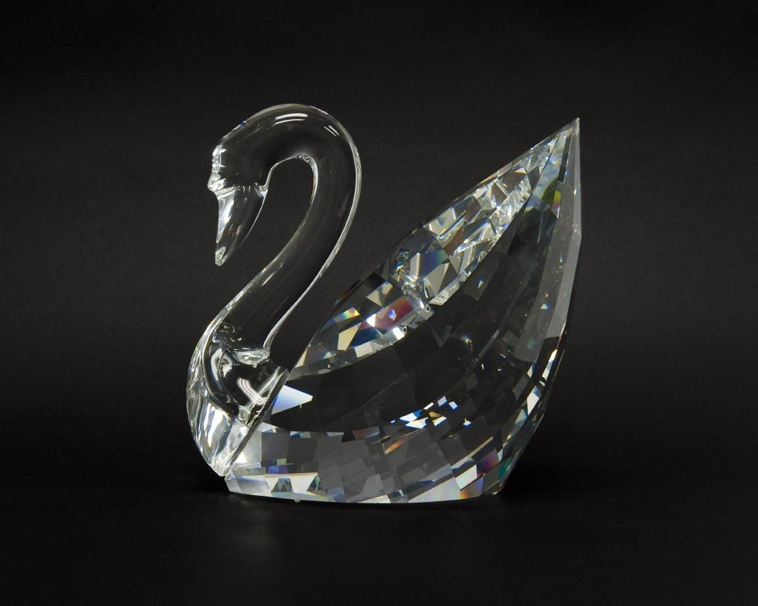 Swarovski Crystal Silver Crystal Swan Figure.