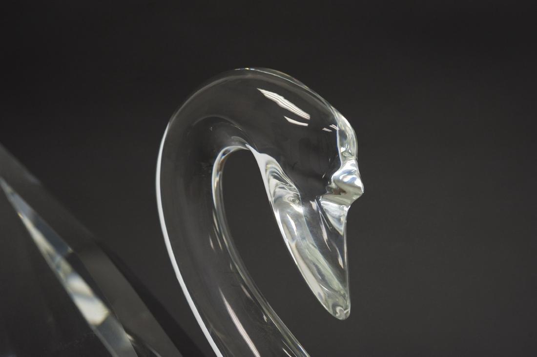 Swarovski Crystal Silver Crystal Swan Figure. - 5