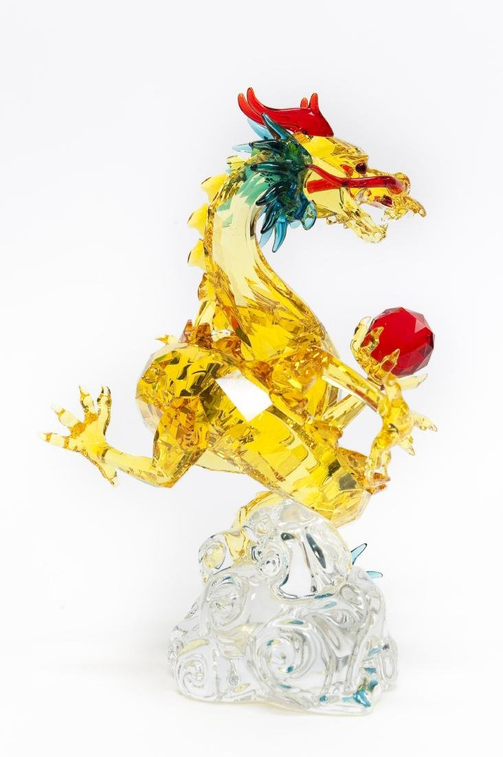 Swarovski Crystal Tutelary Spirit, Auspicious Dragon. - 2