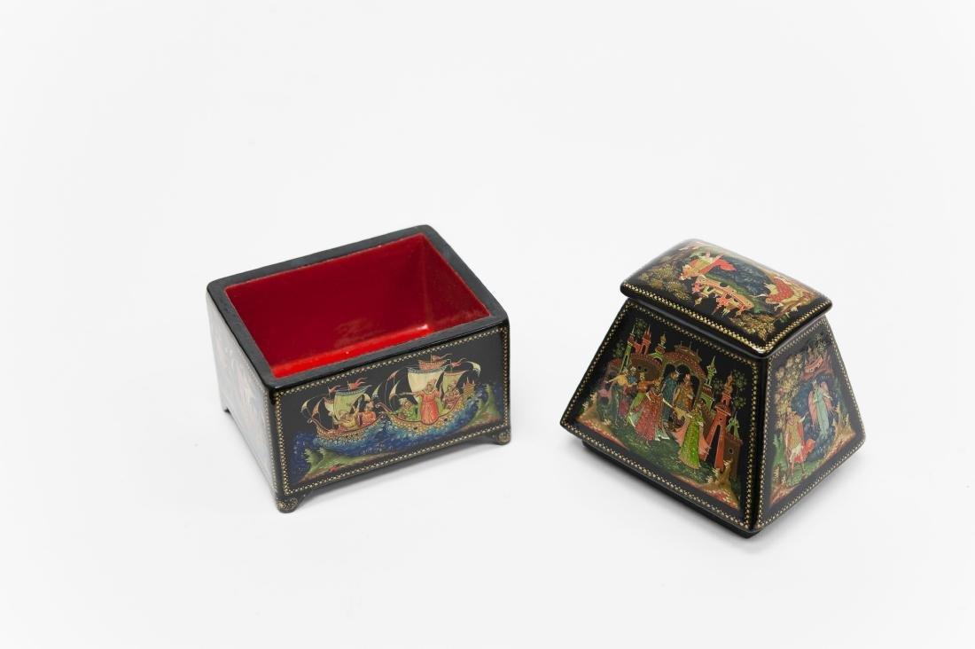 Titov Palekh Russian Lacquer Box. - 2
