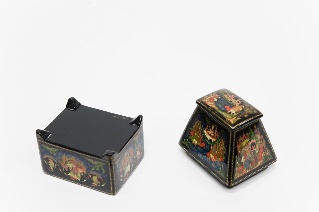 Titov Palekh Russian Lacquer Box. - 3