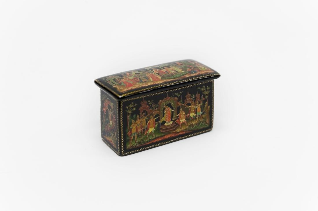 Titov Palekh Russian Lacquer Miniature Box.
