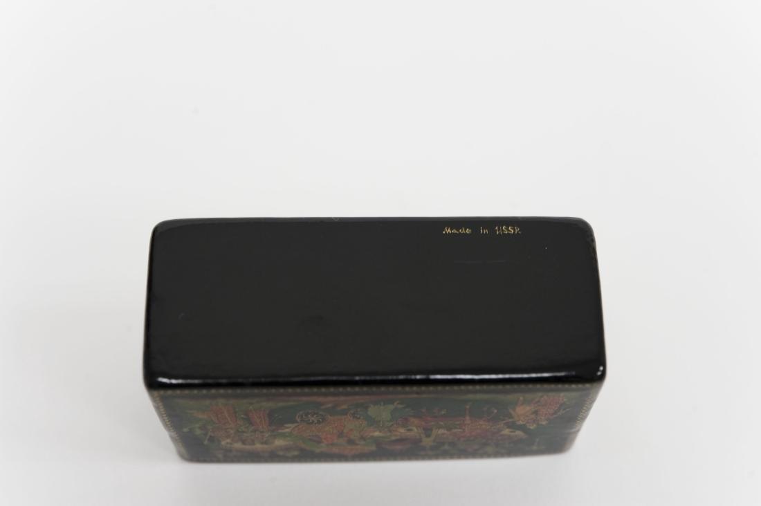 Titov Palekh Russian Lacquer Miniature Box. - 3