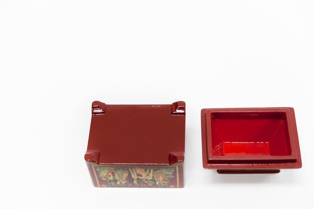 Bolshakova Palekh Russian Red Lacquer Box. - 4