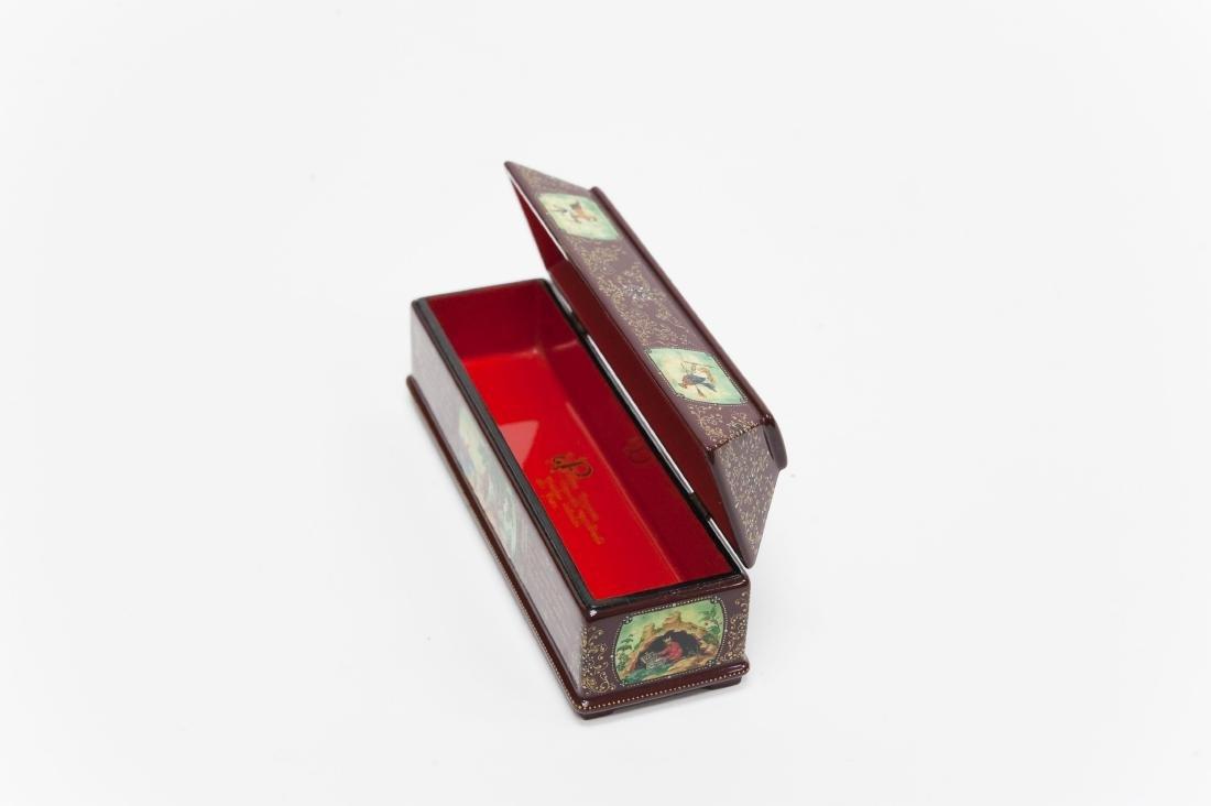 Tsibin Palekh Russian Lacquer Box, Tribute to Pushkin. - 2