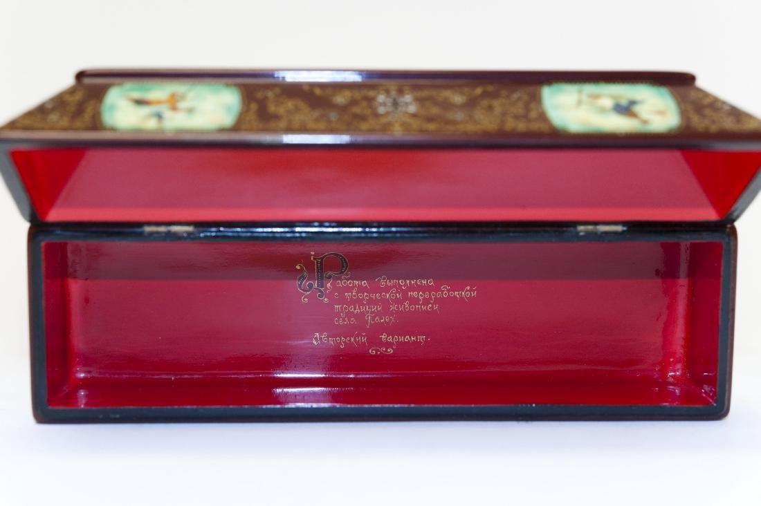 Tsibin Palekh Russian Lacquer Box, Tribute to Pushkin. - 3