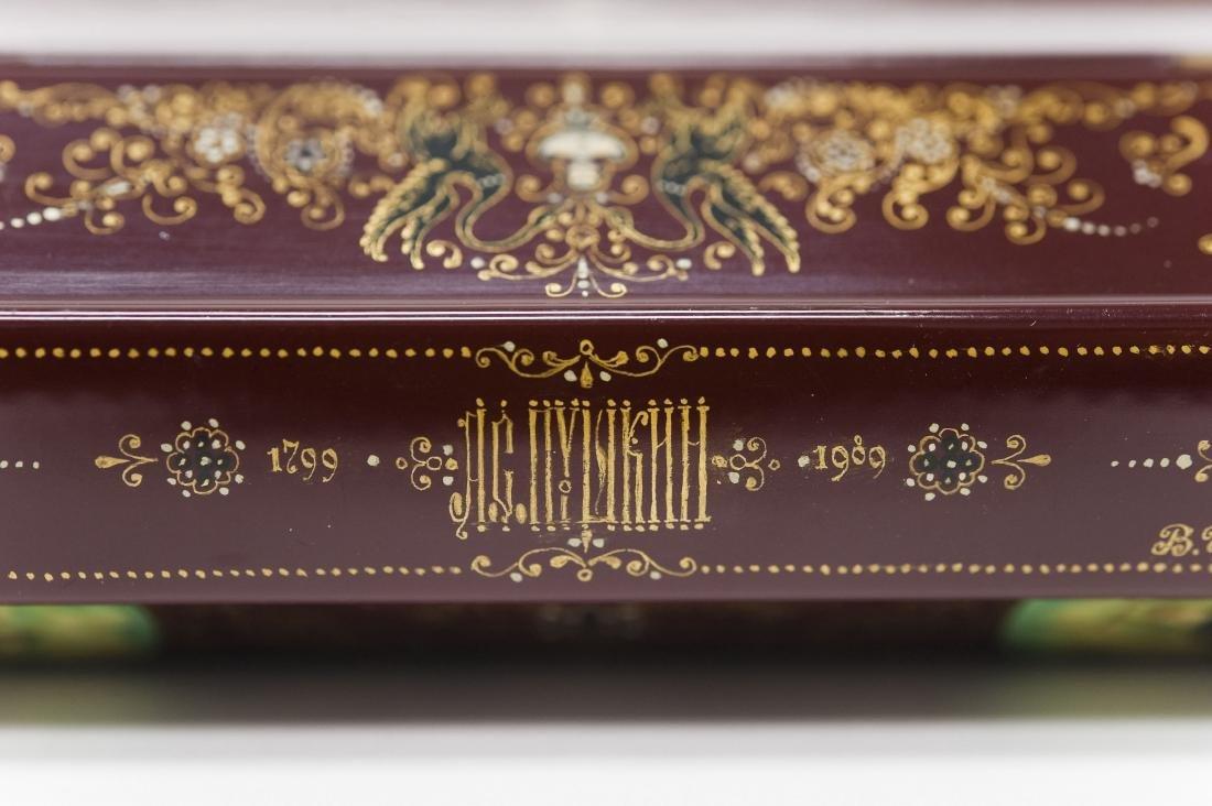 Tsibin Palekh Russian Lacquer Box, Tribute to Pushkin. - 8