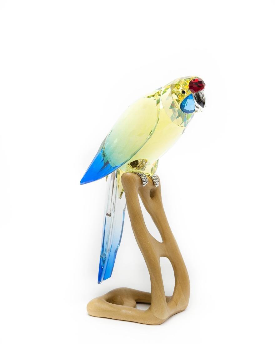 Swarovski Green Rosella Jonquil Parrot Figure.