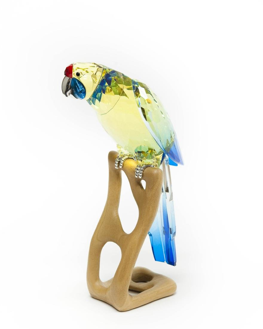 Swarovski Green Rosella Jonquil Parrot Figure. - 2