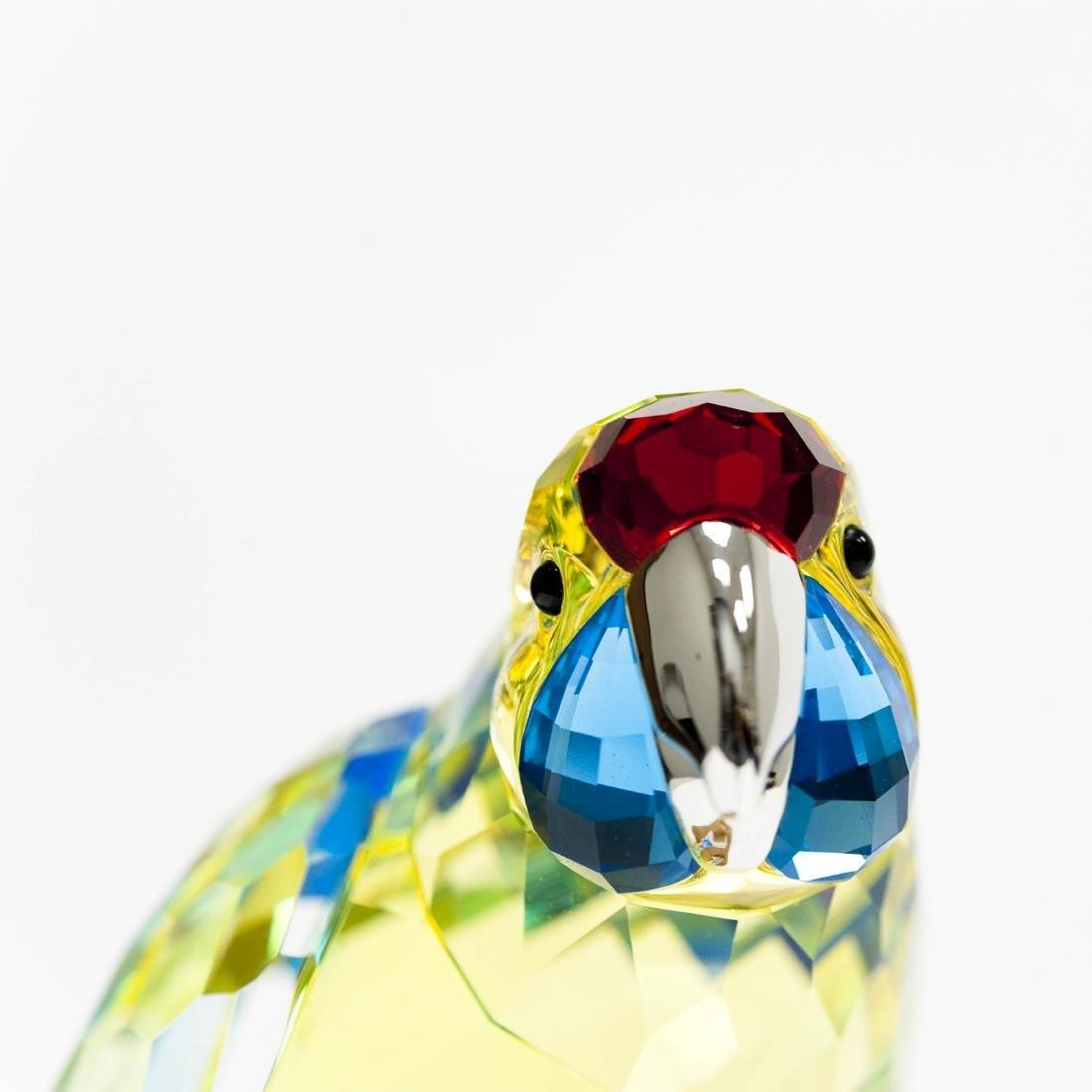 Swarovski Green Rosella Jonquil Parrot Figure. - 4